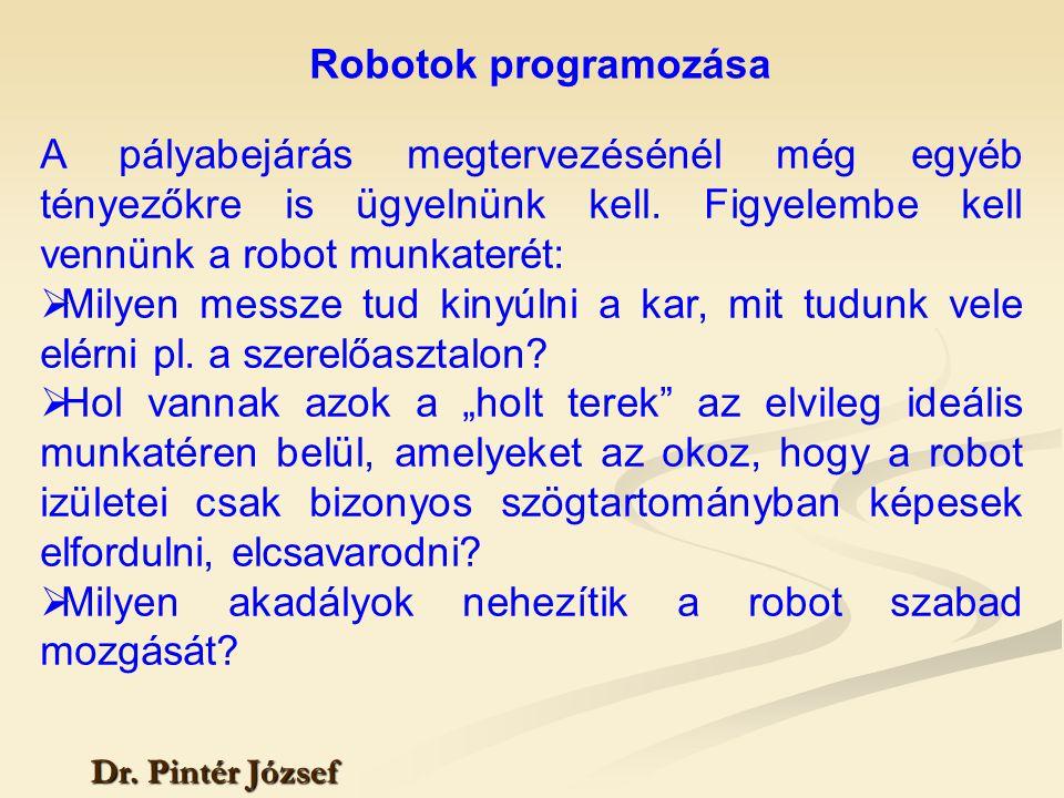 Milyen akadályok nehezítik a robot szabad mozgását