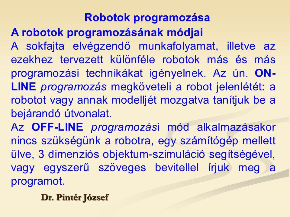 A robotok programozásának módjai