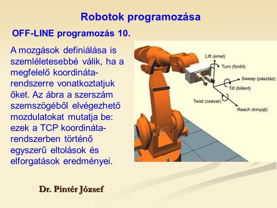 Robotok programozása OFF-LINE programozás 10.