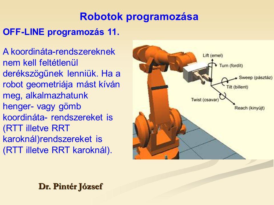 Robotok programozása OFF-LINE programozás 11.