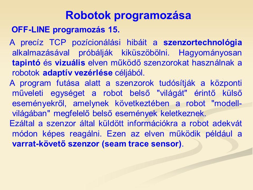 Robotok programozása OFF-LINE programozás 15.