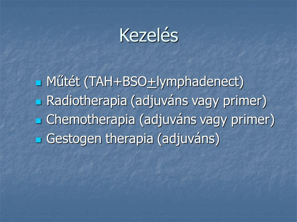 Kezelés Műtét (TAH+BSO+lymphadenect)