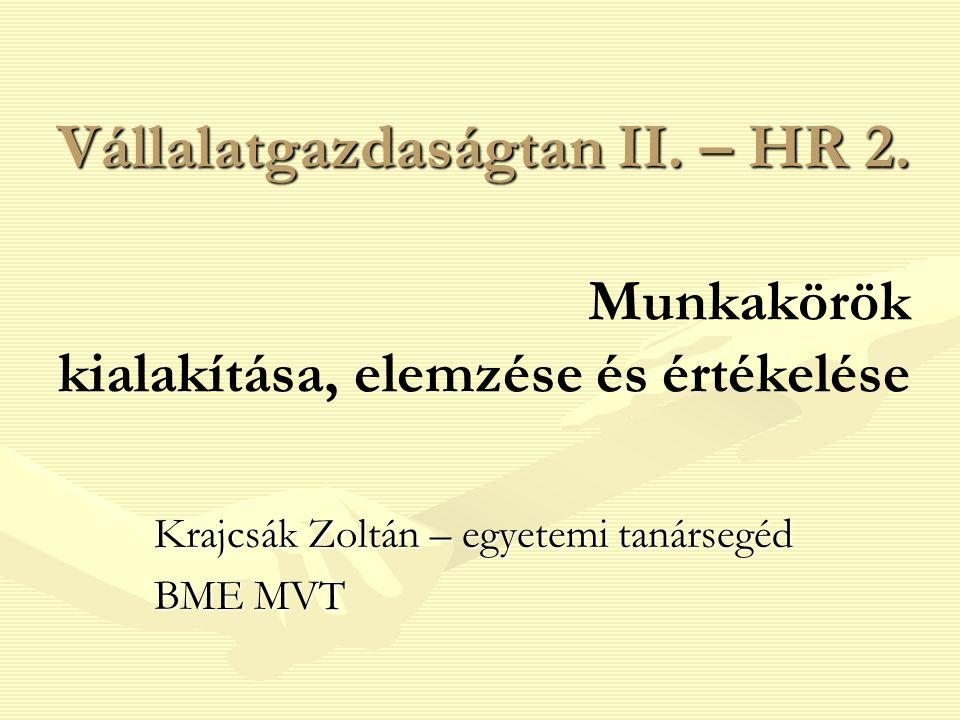 Krajcsák Zoltán – egyetemi tanársegéd BME MVT