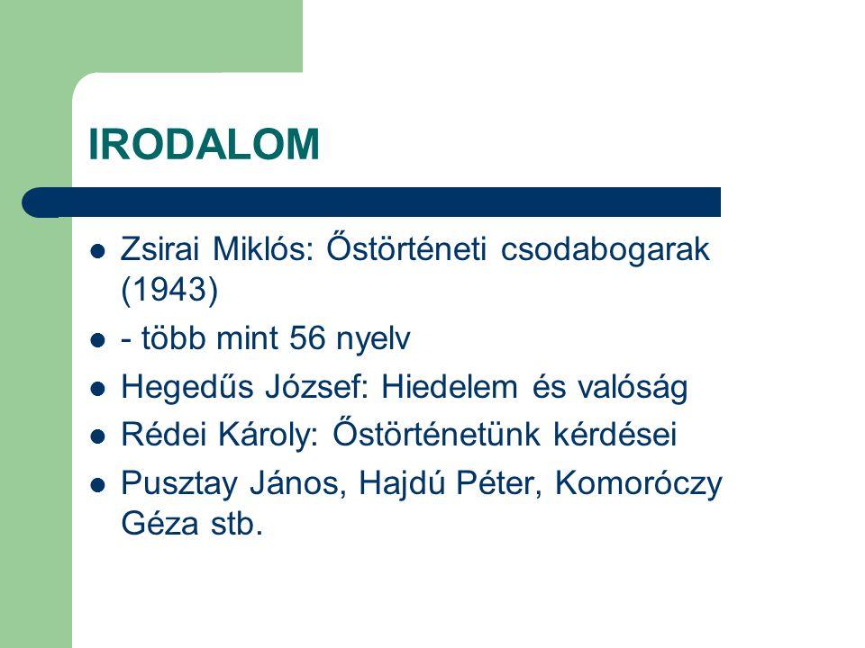 IRODALOM Zsirai Miklós: Őstörténeti csodabogarak (1943)