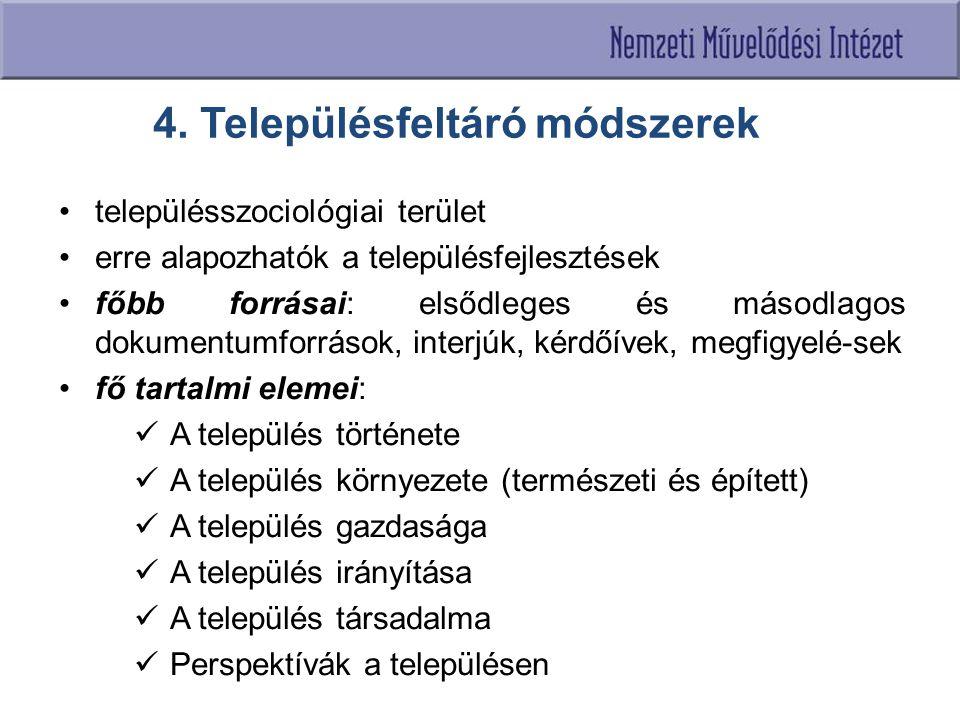 4. Településfeltáró módszerek