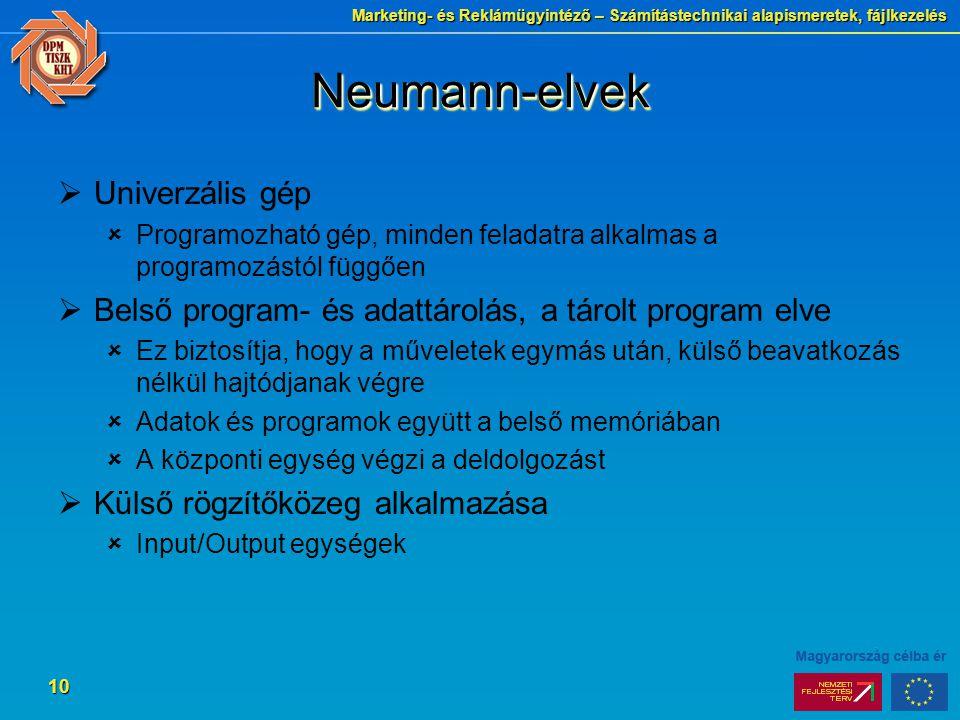 Neumann-elvek Univerzális gép