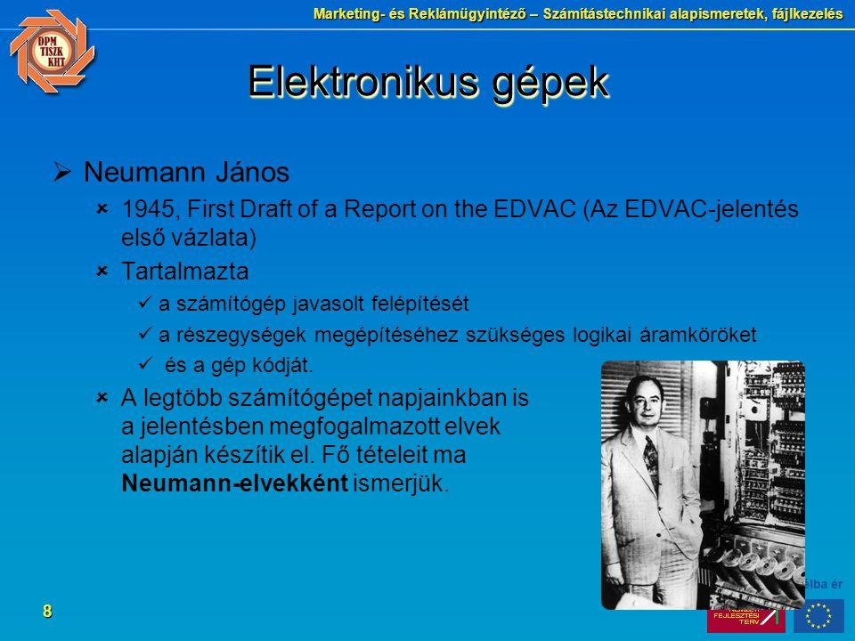 Elektronikus gépek Neumann János