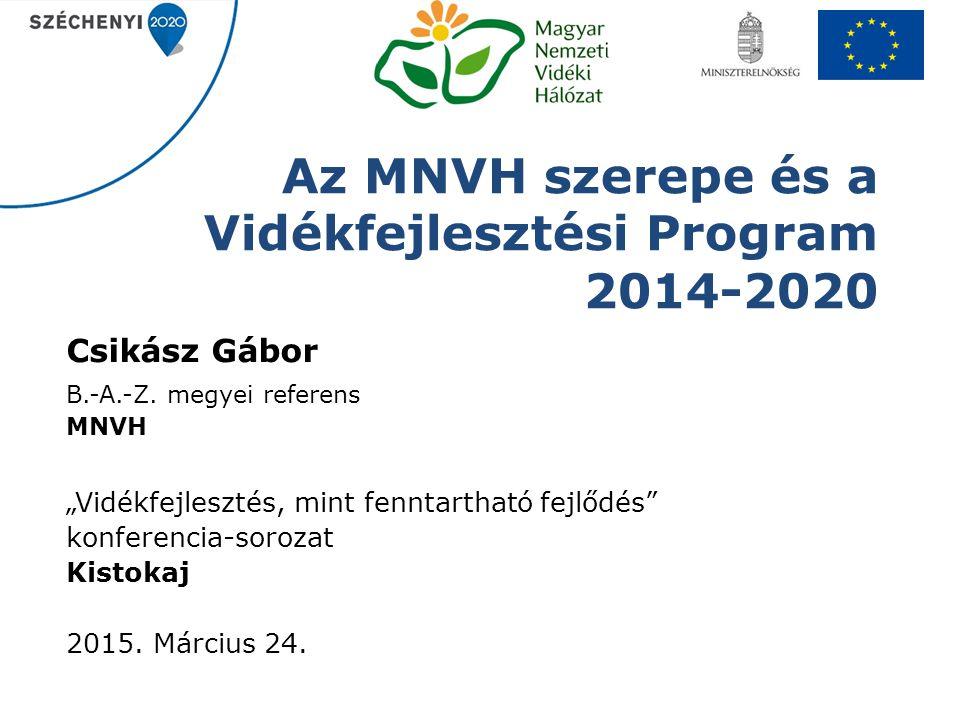 Az MNVH szerepe és a Vidékfejlesztési Program 2014-2020