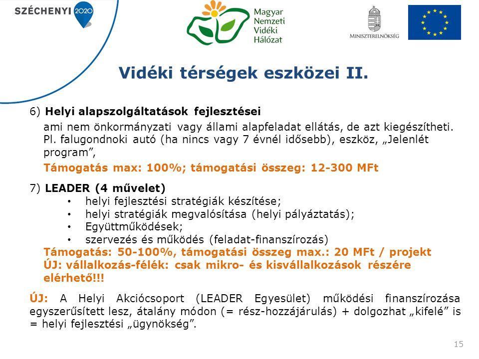 Vidéki térségek eszközei II.