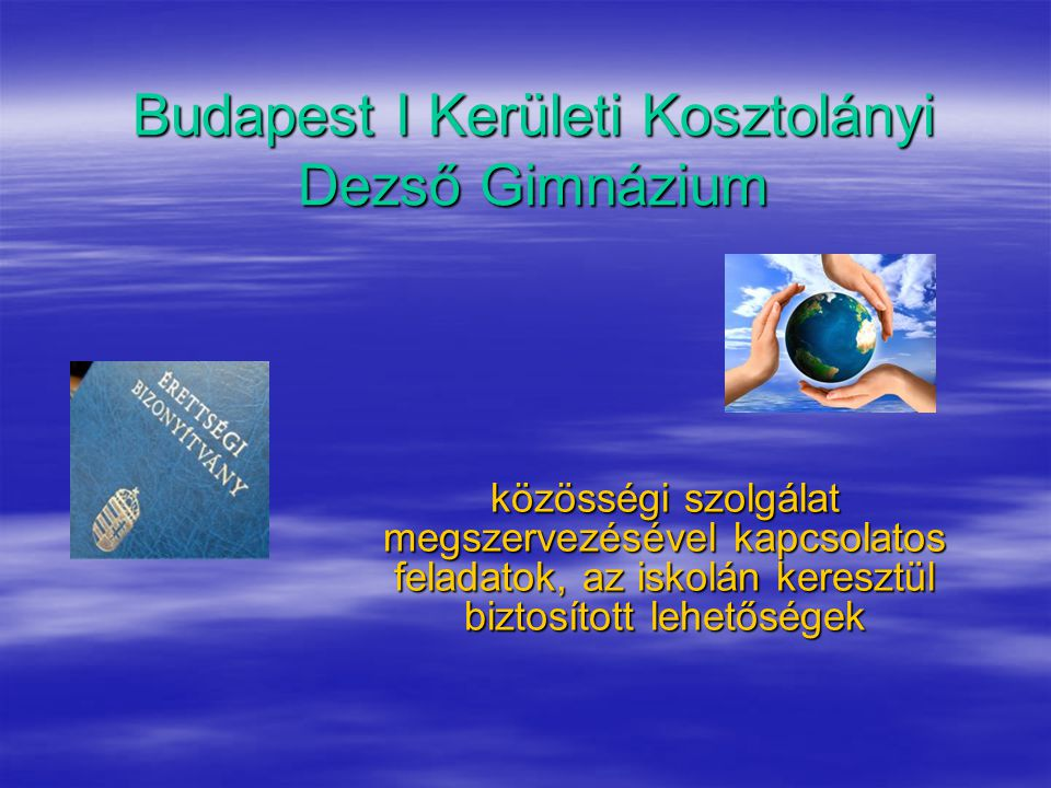 Budapest I Kerületi Kosztolányi Dezső Gimnázium