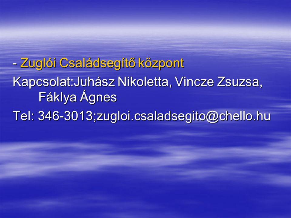 - Zuglói Családsegítő központ