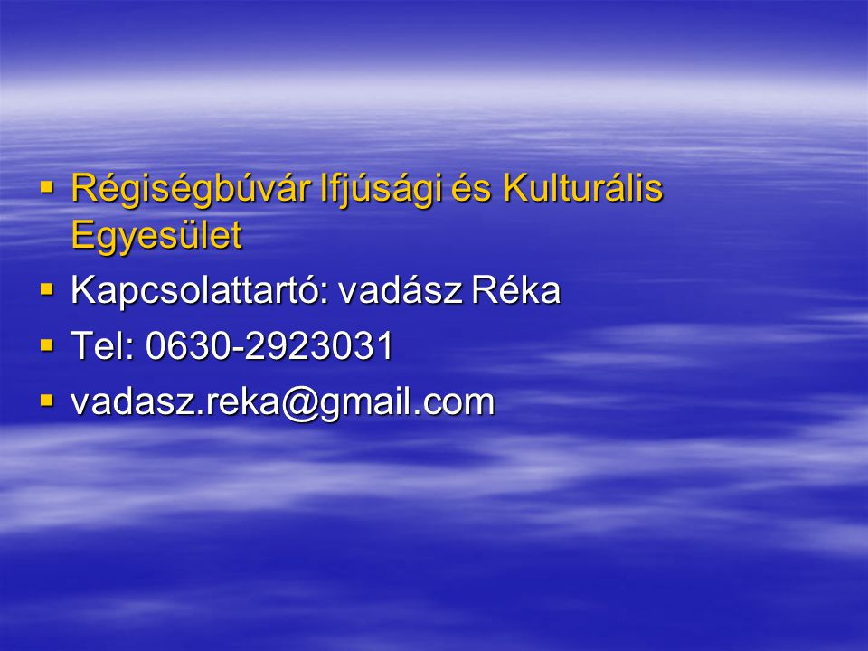 Régiségbúvár Ifjúsági és Kulturális Egyesület