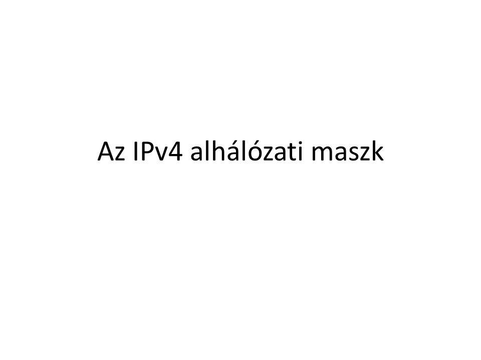 Az IPv4 alhálózati maszk