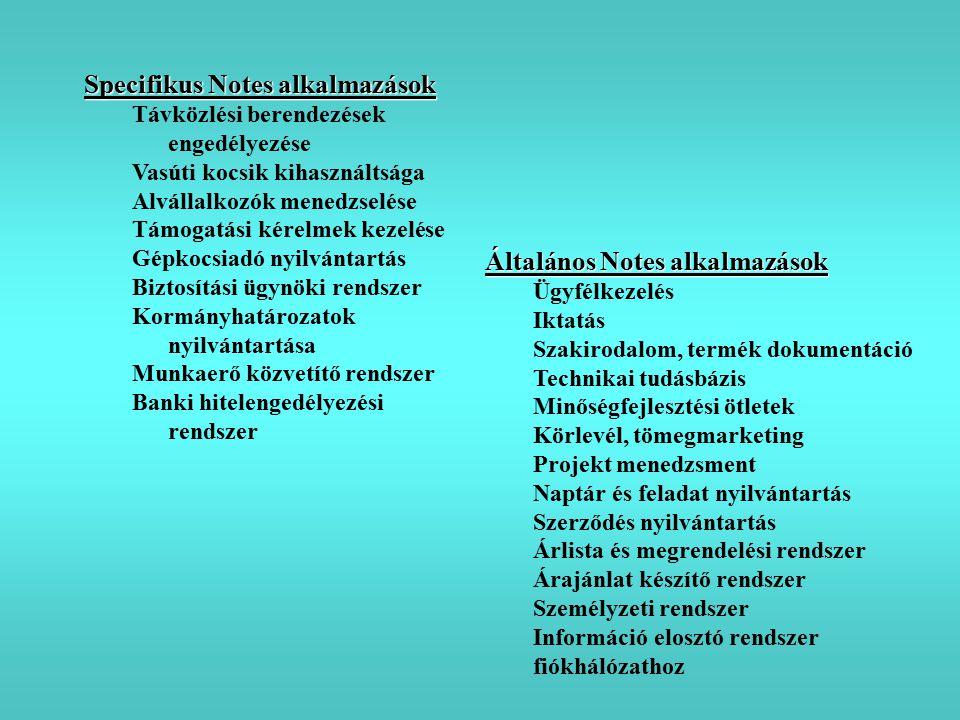 Specifikus Notes alkalmazások