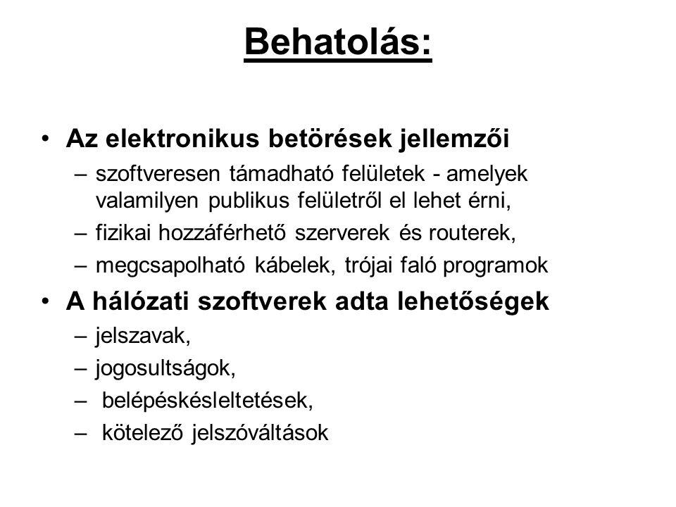 Behatolás: Az elektronikus betörések jellemzői