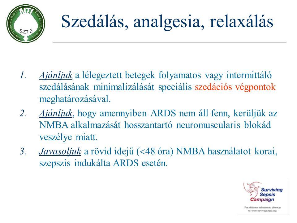 Szedálás, analgesia, relaxálás