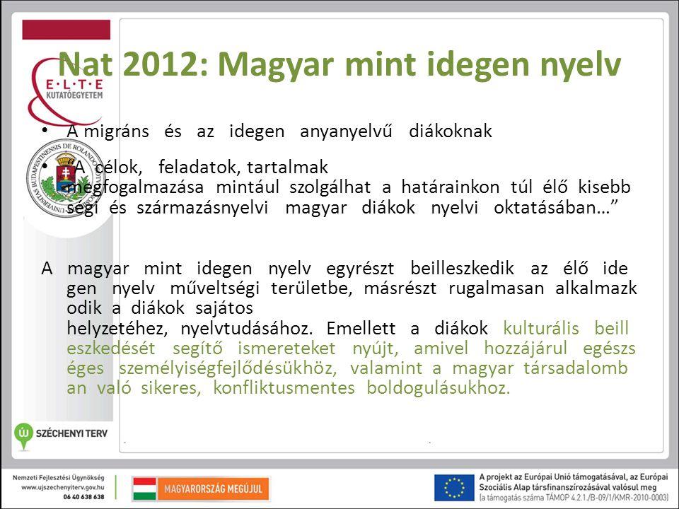 Nat 2012: Magyar mint idegen nyelv