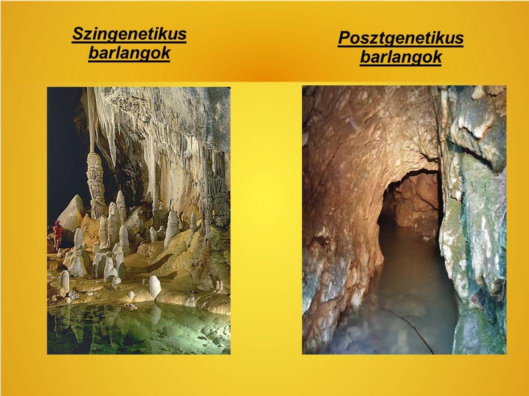 Szingenetikus barlangok Posztgenetikus barlangok