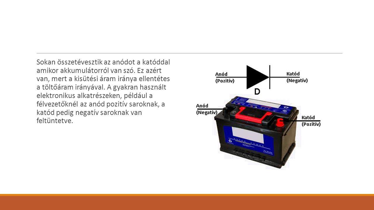 Sokan összetévesztik az anódot a katóddal amikor akkumulátorról van szó.
