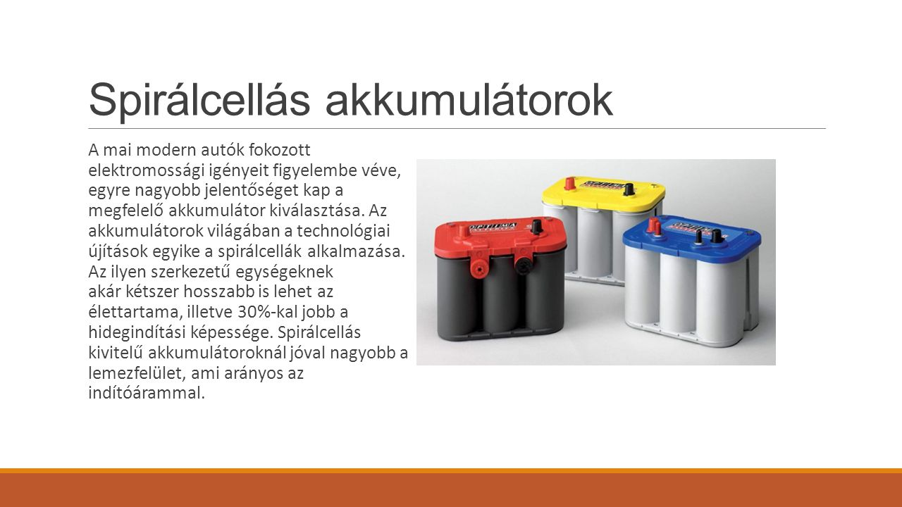 Spirálcellás akkumulátorok