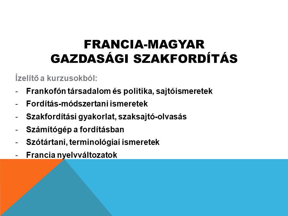 Francia-magyar gazdasági szakfordítás