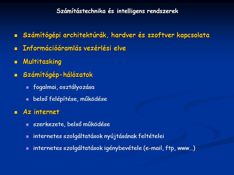 Számítástechnika és intelligens rendszerek
