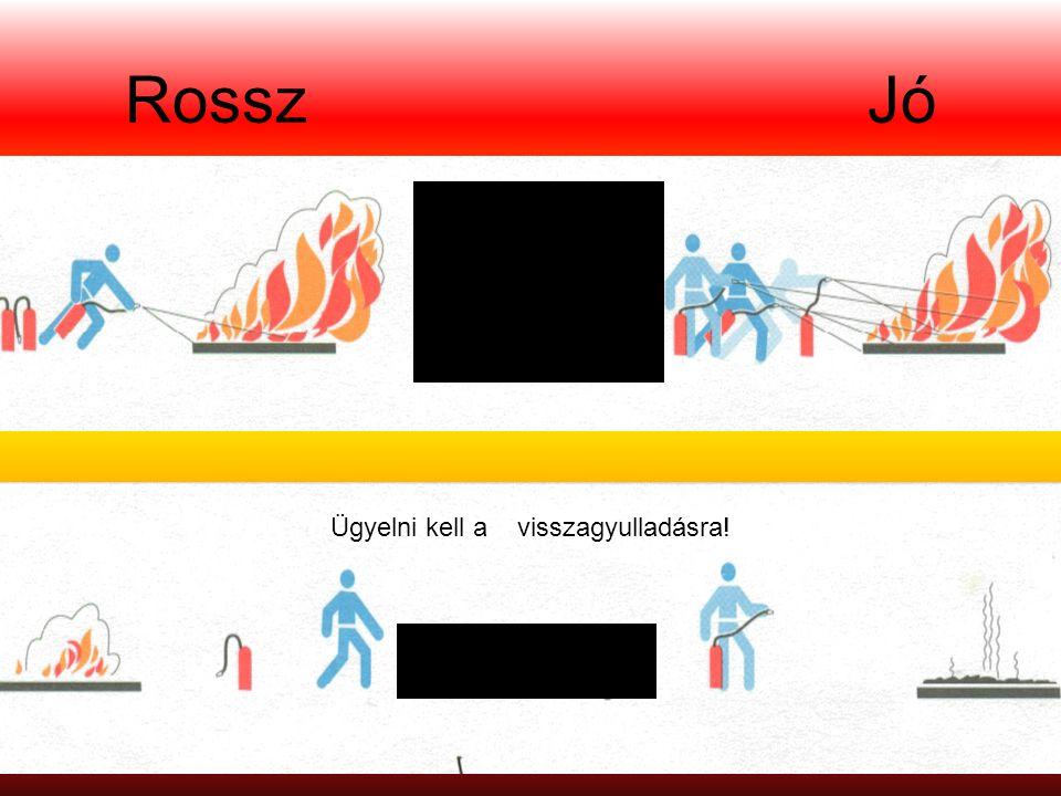 Rossz Jó A tűzoltáshoz szükséges készülékeket egyidejűleg kell