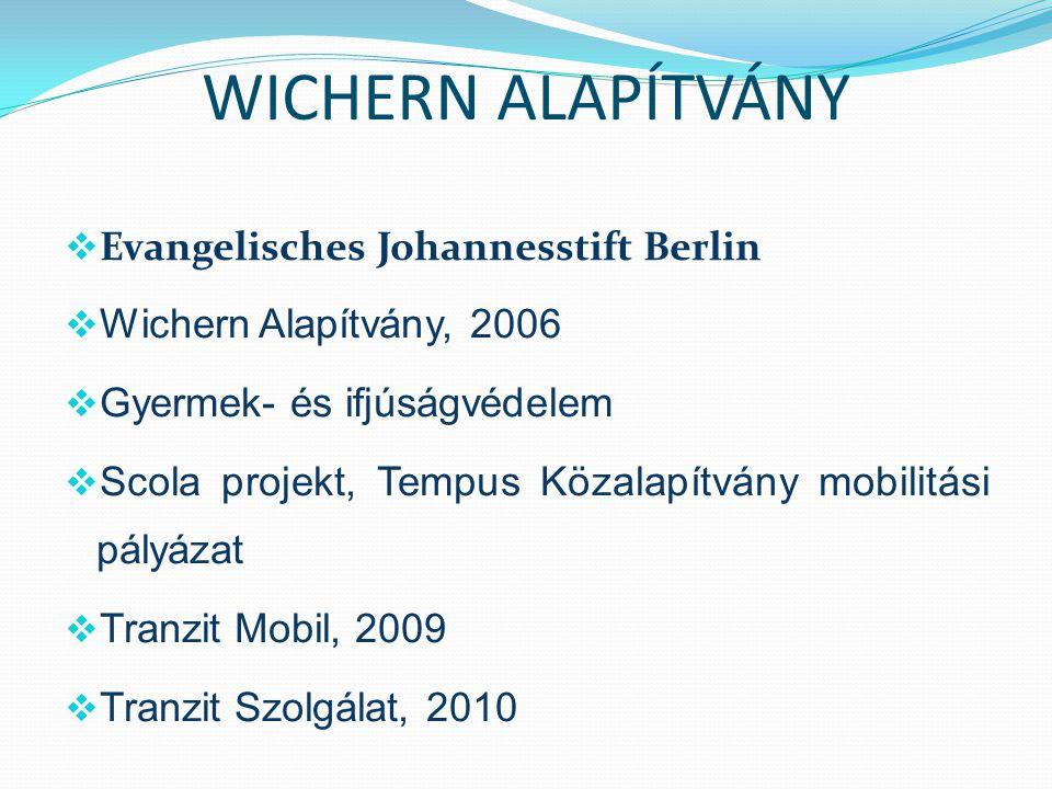 WICHERN ALAPÍTVÁNY Evangelisches Johannesstift Berlin