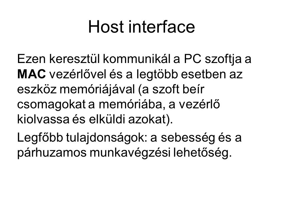 Host interface