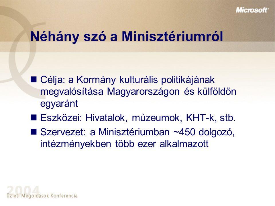 Néhány szó a Minisztériumról