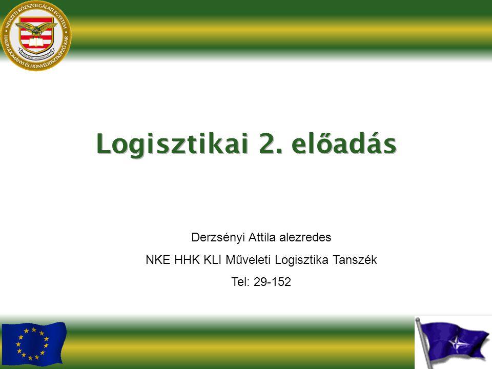 Logisztikai 2. előadás Derzsényi Attila alezredes