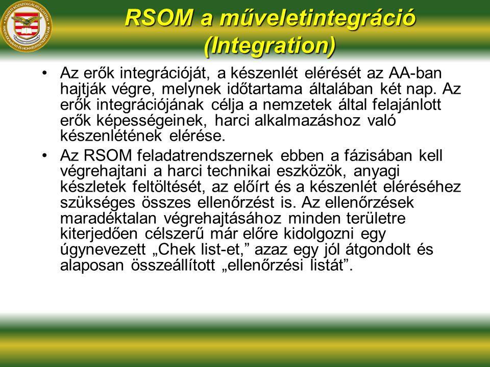 RSOM a műveletintegráció (Integration)
