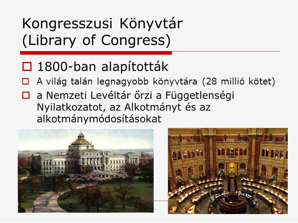 Kongresszusi Könyvtár (Library of Congress)