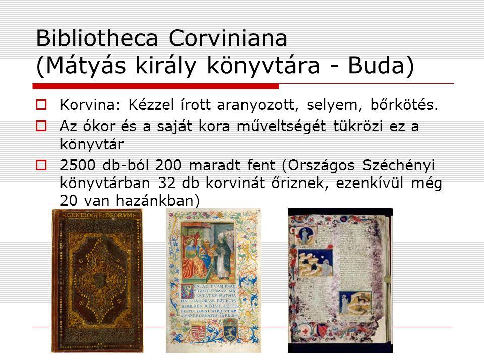 Bibliotheca Corviniana (Mátyás király könyvtára - Buda)