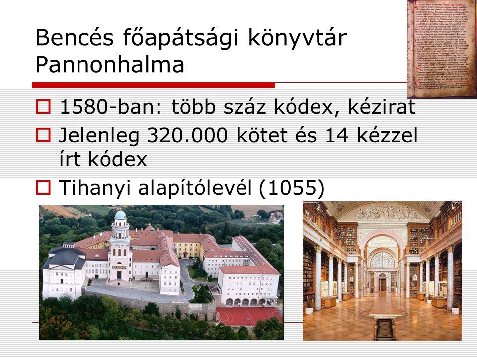 Bencés főapátsági könyvtár Pannonhalma