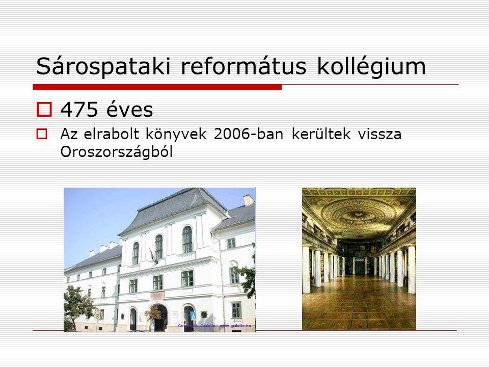 Sárospataki református kollégium