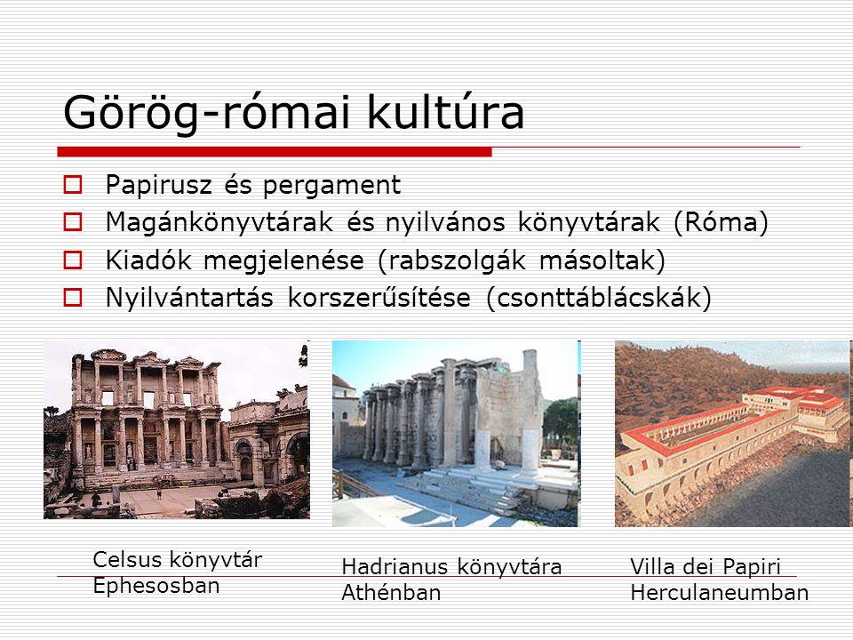Görög-római kultúra Papirusz és pergament