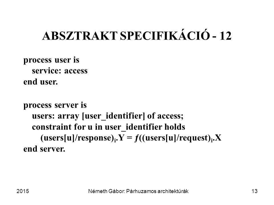 ABSZTRAKT SPECIFIKÁCIÓ - 12
