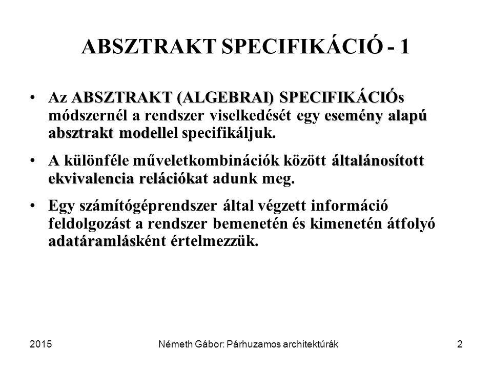 ABSZTRAKT SPECIFIKÁCIÓ - 1