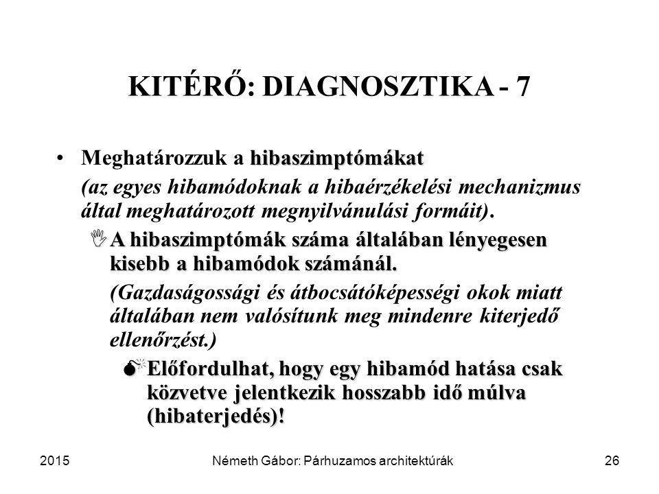 KITÉRŐ: DIAGNOSZTIKA - 7