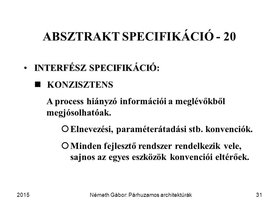 ABSZTRAKT SPECIFIKÁCIÓ - 20