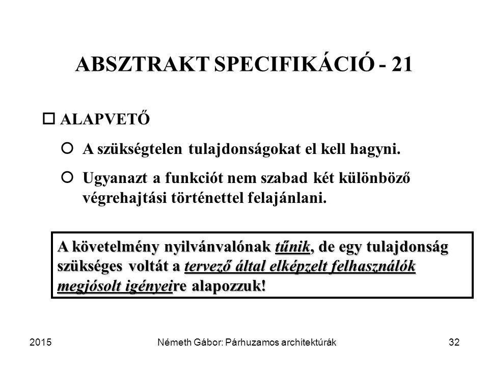 ABSZTRAKT SPECIFIKÁCIÓ - 21