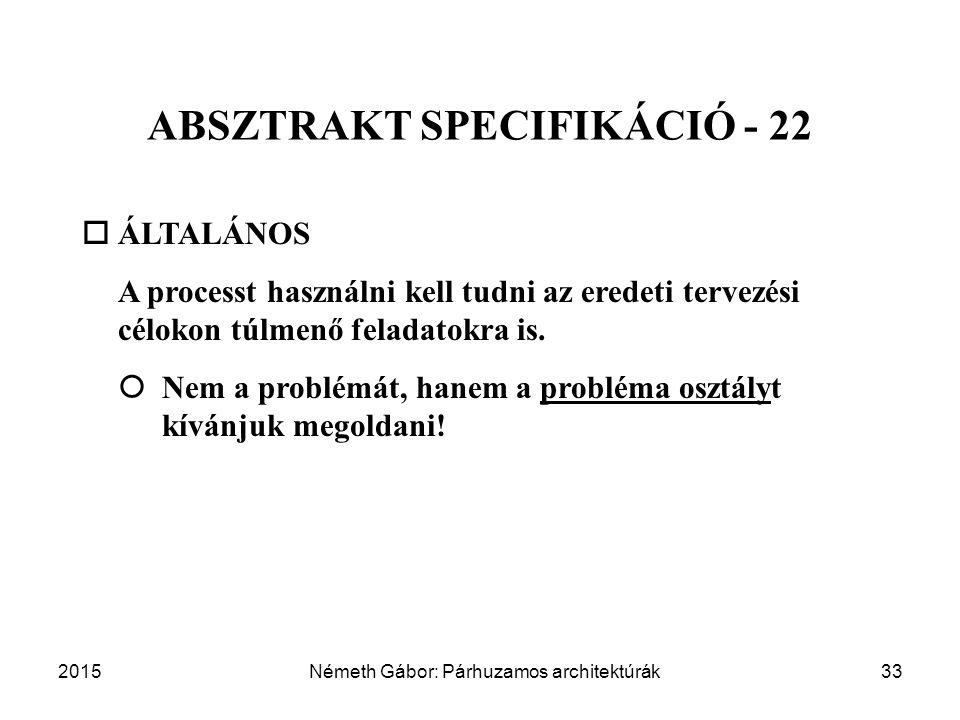 ABSZTRAKT SPECIFIKÁCIÓ - 22