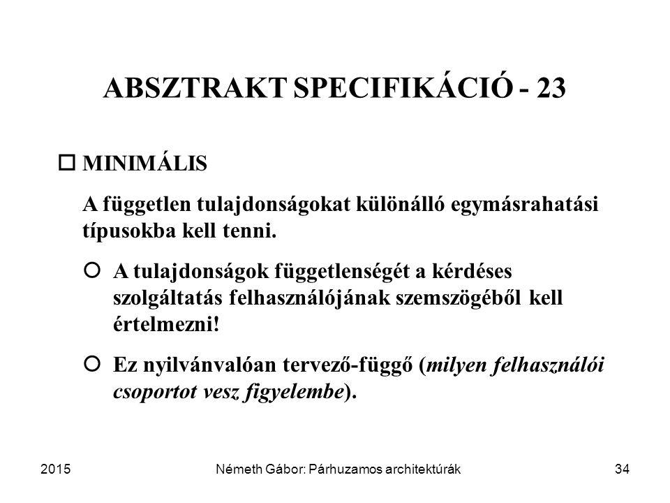 ABSZTRAKT SPECIFIKÁCIÓ - 23
