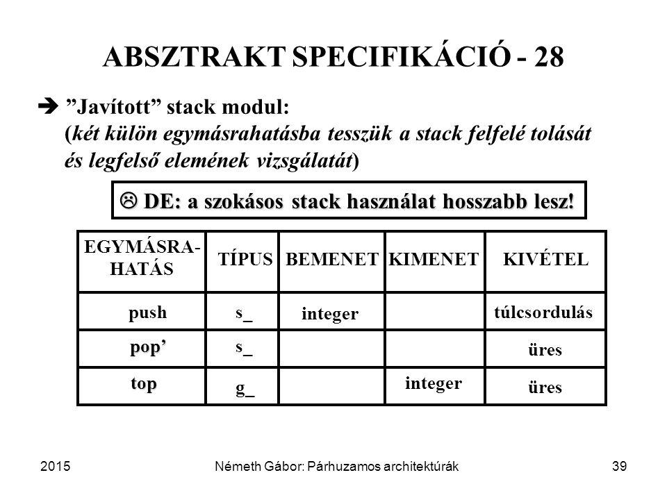 ABSZTRAKT SPECIFIKÁCIÓ - 28