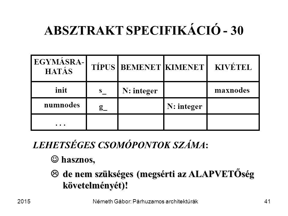 ABSZTRAKT SPECIFIKÁCIÓ - 30