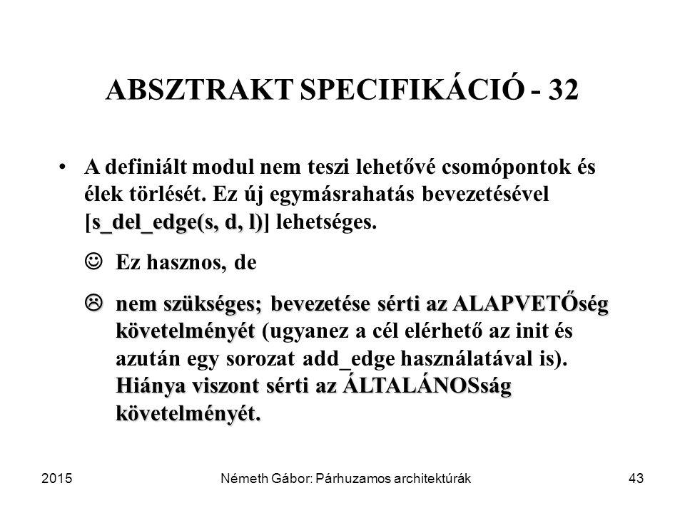 ABSZTRAKT SPECIFIKÁCIÓ - 32