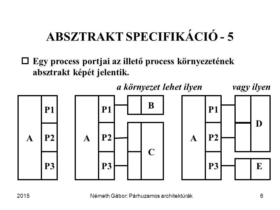 ABSZTRAKT SPECIFIKÁCIÓ - 5 a környezet lehet ilyen