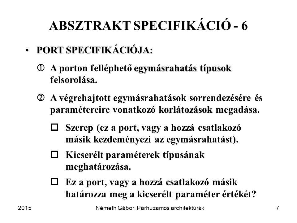 ABSZTRAKT SPECIFIKÁCIÓ - 6