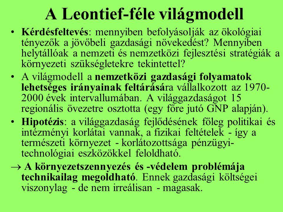 A Leontief-féle világmodell